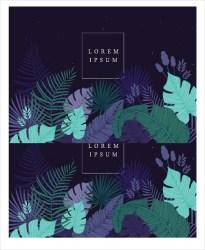 leaf template tropical templates pdf print psd