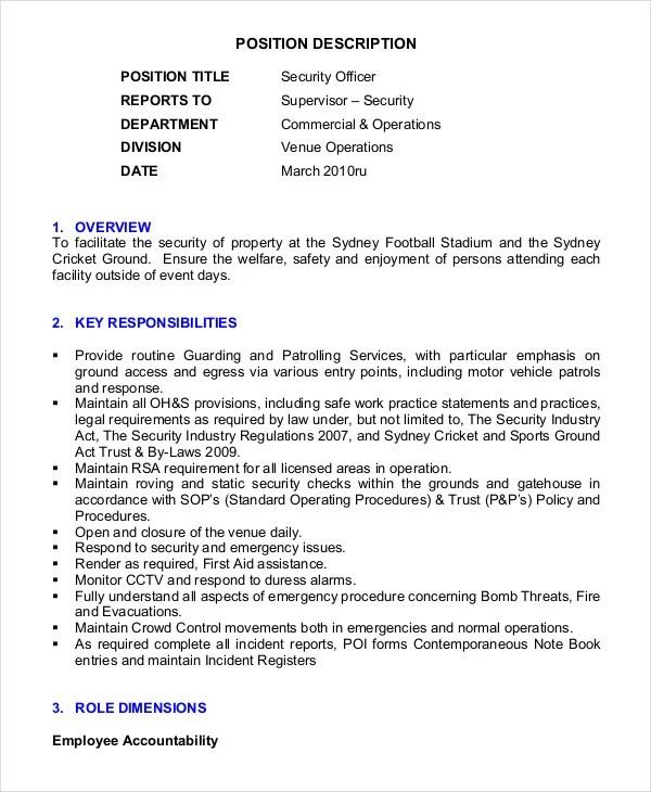 89 Security Resume Template Security Guard Resume