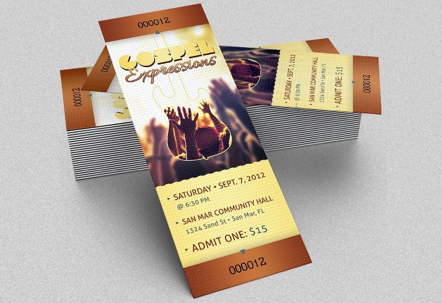 21 Event Ticket Mockups Free Amp Premium Templates