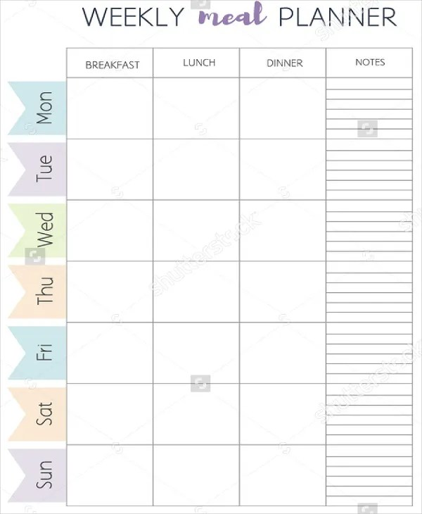 Meal Plan Template - 22+ Free Word, PDF, PSD, Vector ...