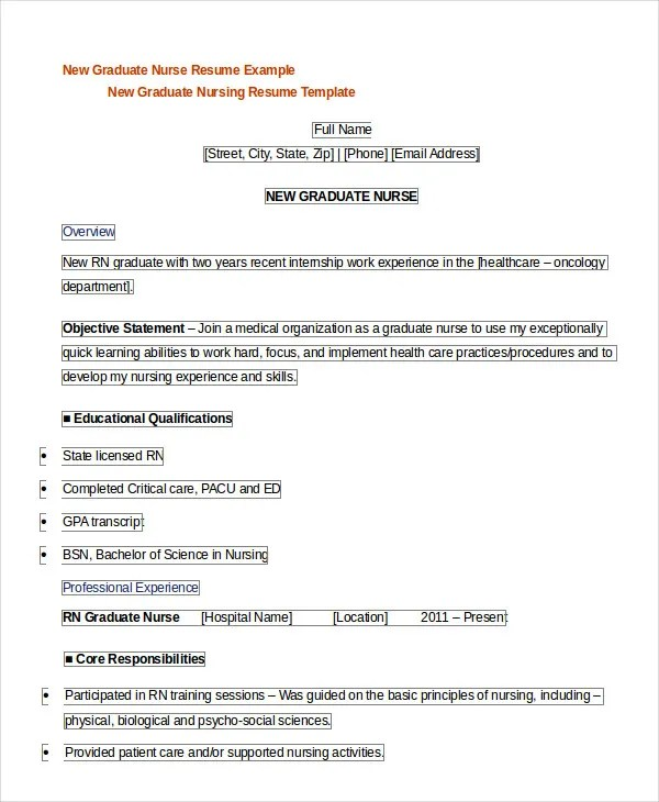 Registered Nurse Resume Example 7 Free Word PDF