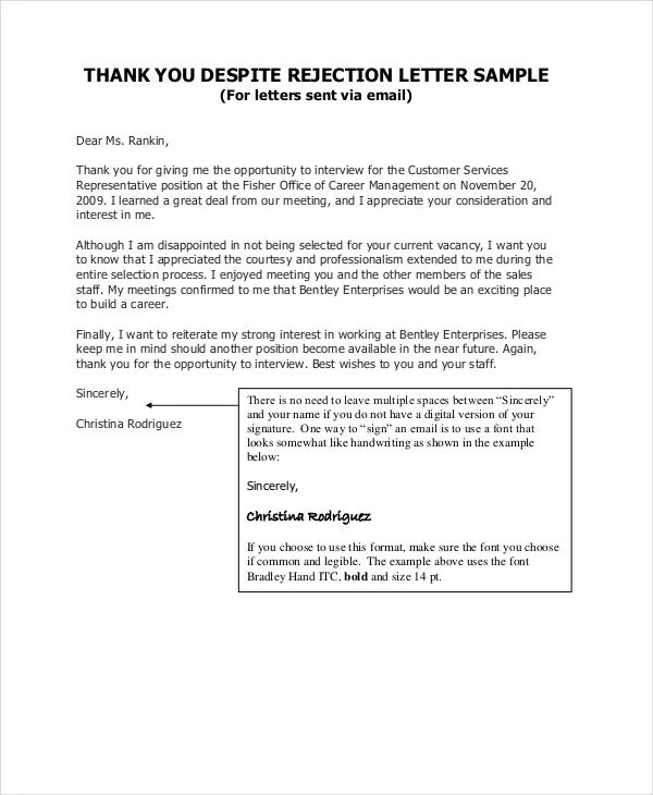 formal thank you letter after interview