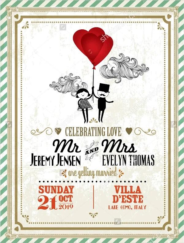 18 Vintage Wedding Invitations  Free PSD Vector AI EPS Format Download  Free  Premium