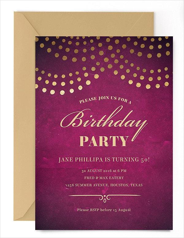 20 Birthday Party Invitations Free PSD Vector AI EPS