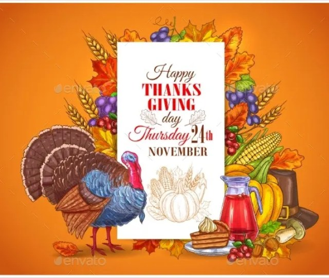 Happy Thanksgiving Day Invitation Card