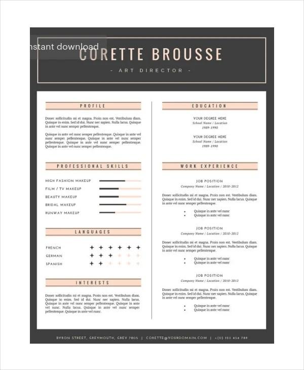 15 Artist Resume Examples PDF DOC Free & Premium