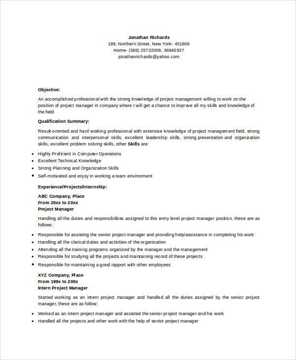 9 Manager Resume Templates PDF DOC Free & Premium