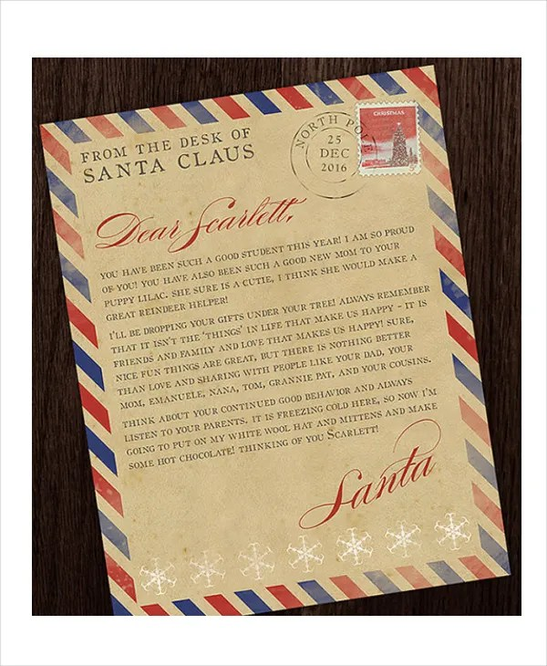 Santa Letter Template  9+ Free Word, Pdf, Psd Documents