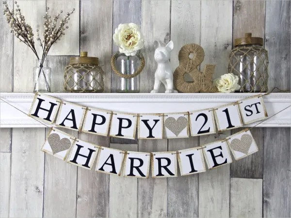 23 Happy Birthday Banners Free PSD Vector AI EPS