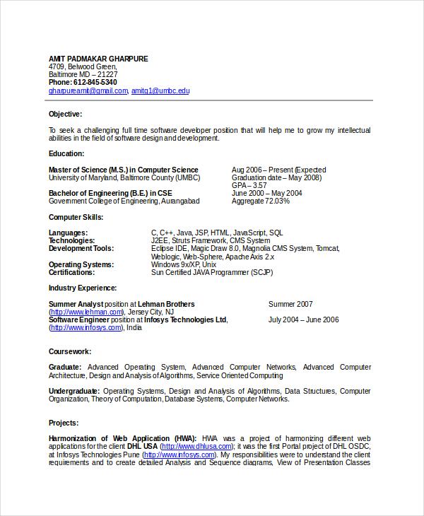 28 Free Resume Templates  PDF DOC  Free  Premium Templates