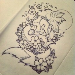 tattoo cool drawing wolf drawings template templates