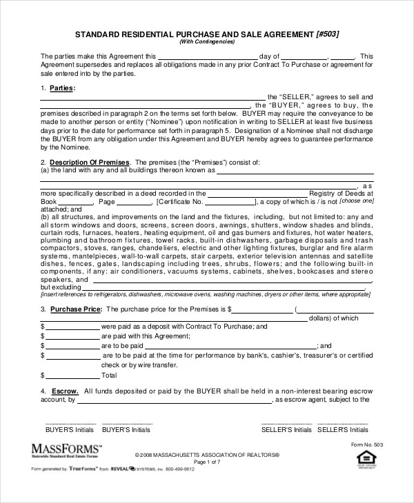 20 Purchase And Sale Agreement Templates Word PDF Apple Pages Google Docs Free Premium