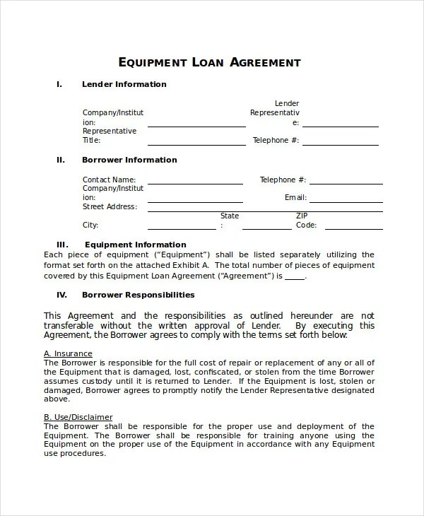 Loan Contracts Templates Env 1198748 Resume Cloud Interhostsolutions Be