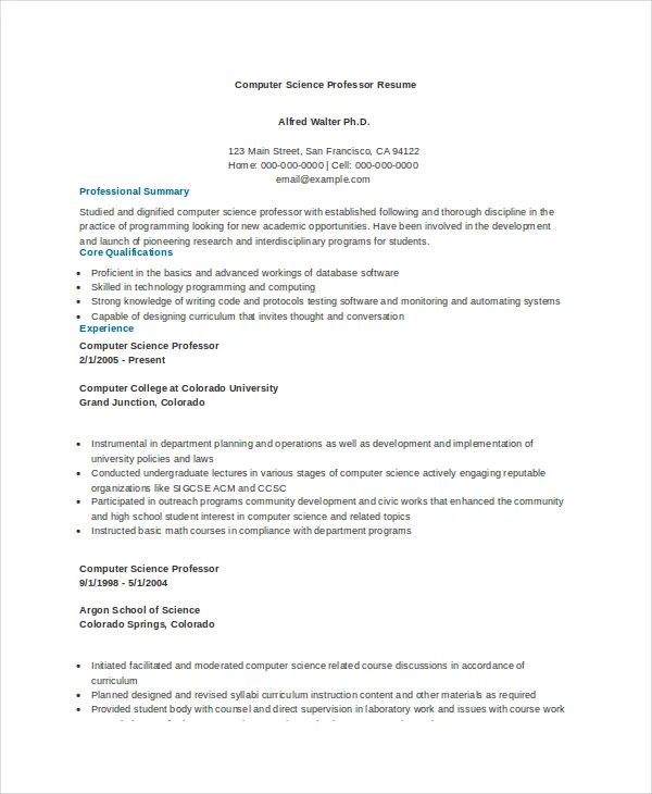 harvard cv pdf