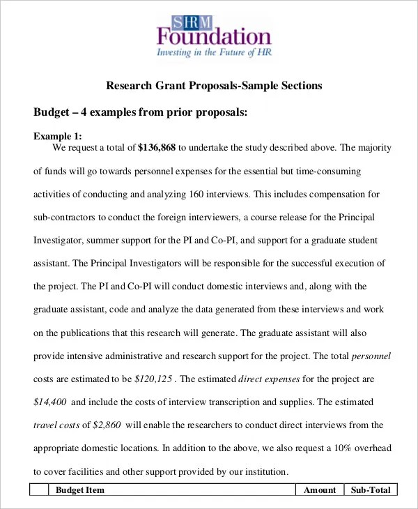 17 Simple Grant Proposal Templates Word PDF Pages