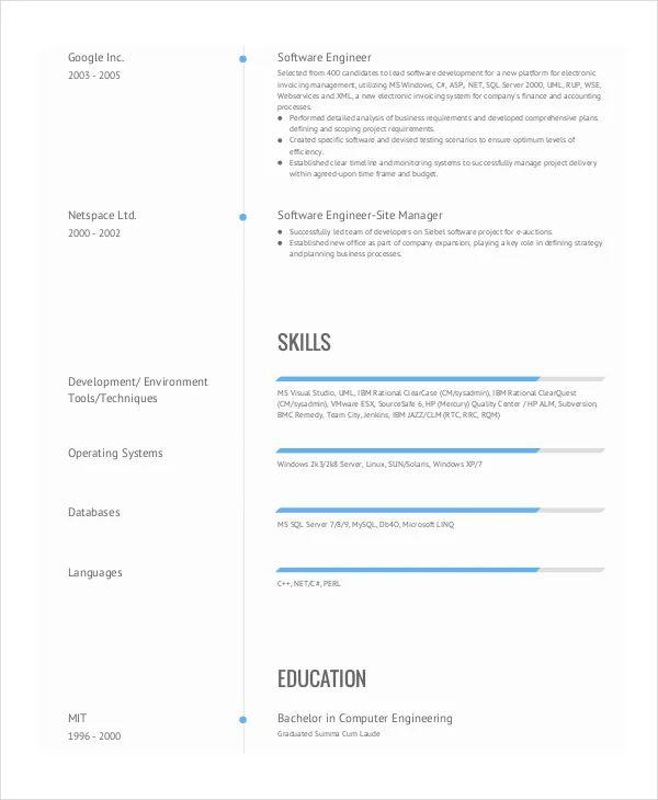 resume for job example pdf