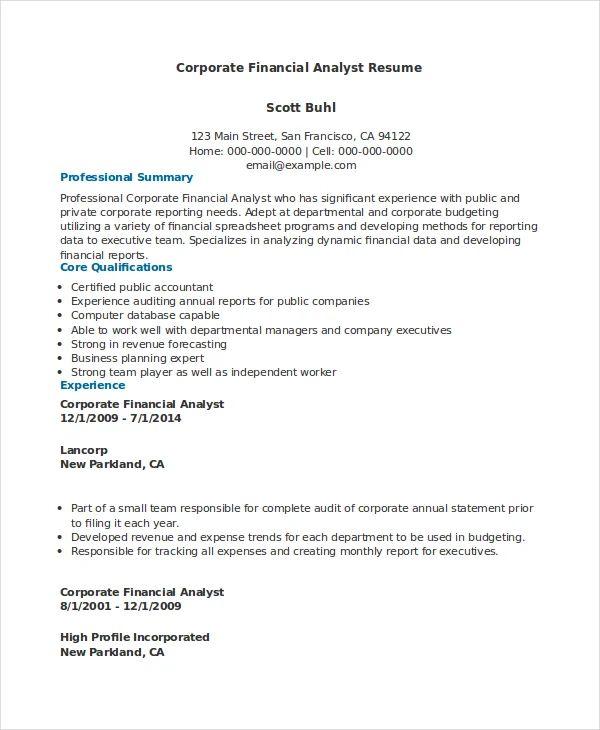 resume sample accounting