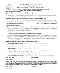 Motor Vehicle Bill of Sale - 7+ Free word, PDF Documents ...