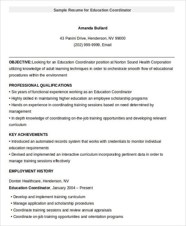 ready resume sample