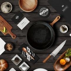 Kitchen Design Template Work Tops 19+ Beautiful Restaurant Branding Mockups - Psd | Free ...