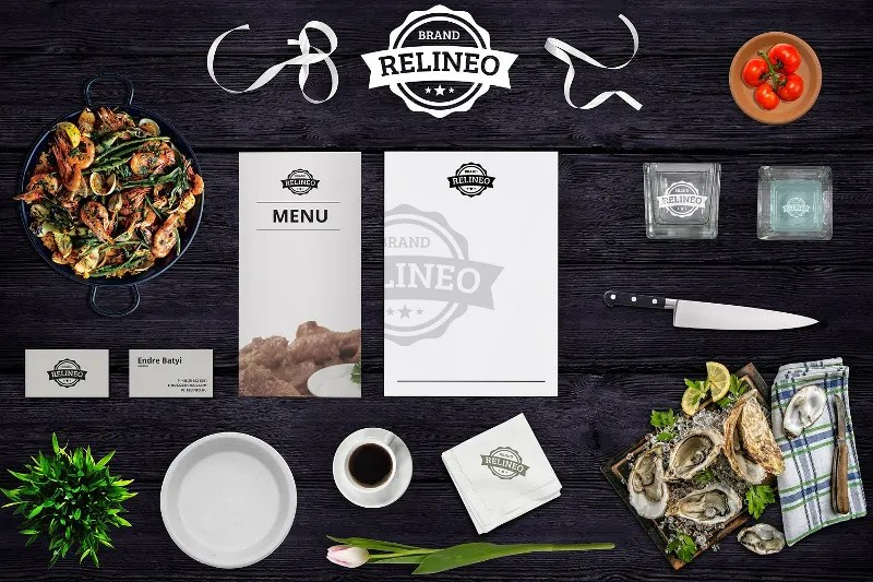 19 Beautiful Restaurant Branding Mockups  PSD  Free  Premium Templates