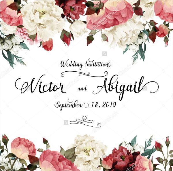 Fl Design Wedding Invitation