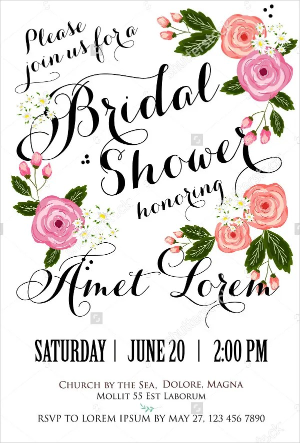 26 Bridal Shower Invitation Templates Word Psd Ai Eps
