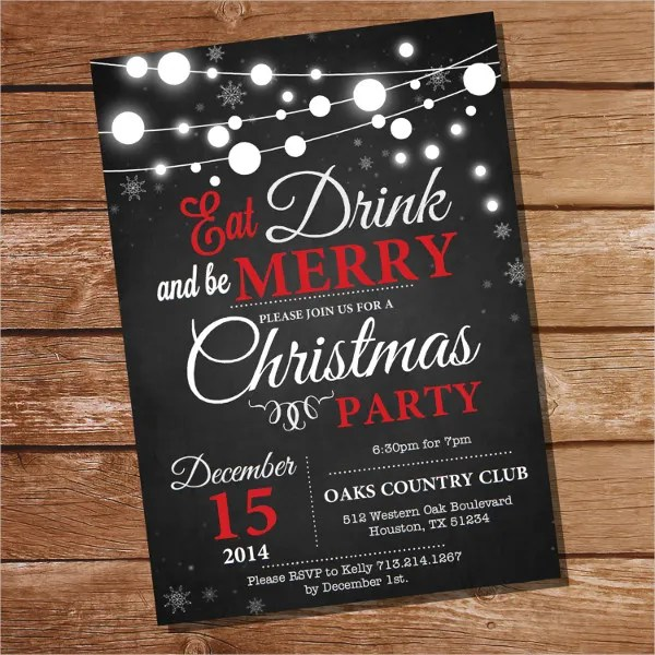 20 Christmas Party Invitation Templates Christmas Party