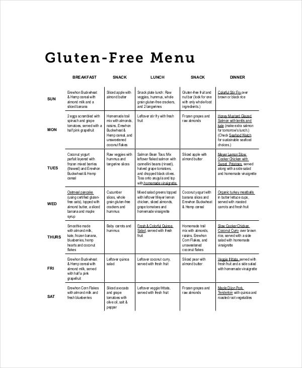 free meal planner template download