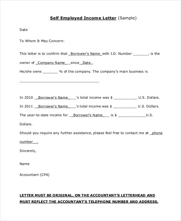 self employed recommendation letter - April.onthemarch.co