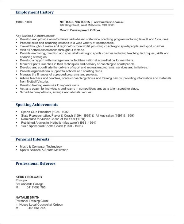 Personal Interests On Resume Examples