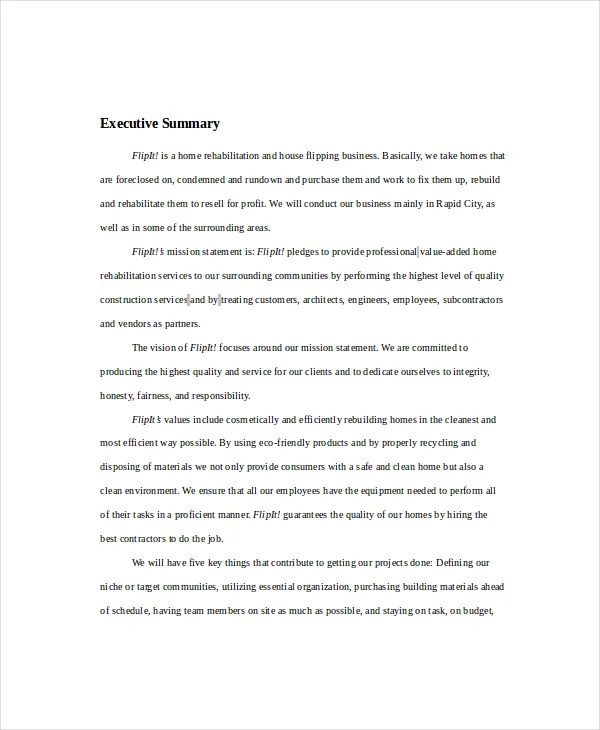 Real Estate Business Plan  14 Free PDF Word Documemts