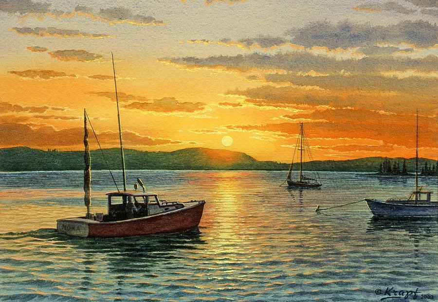 21 Beautiful Sunset Paintings Free Amp Premium Templates