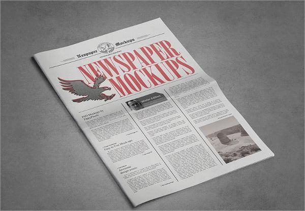 free newspaper template printable