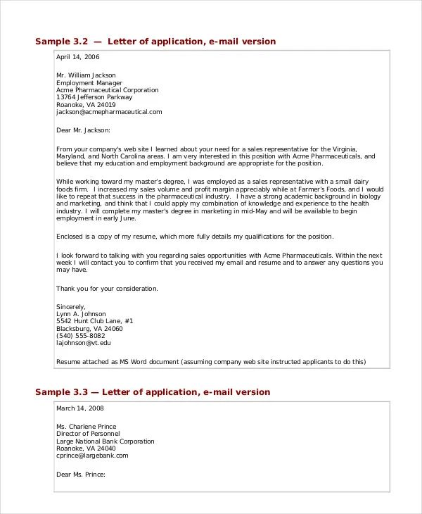 business covering letter