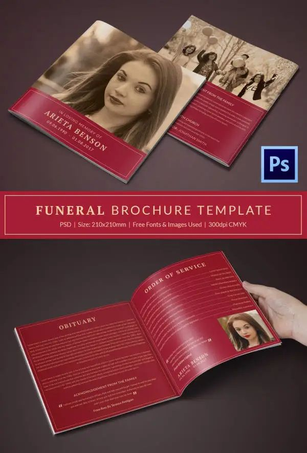 free obituary template download
