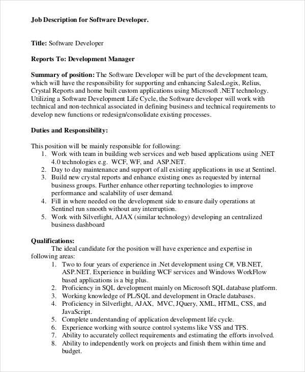 Software Engineer Job Description Job Description For Application Software  Engineering Manager Resume  Software Engineering Manager Resume