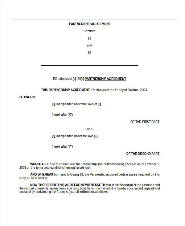 General Partnership Agreement - 9+ Free PDF, Word Documents Download ...