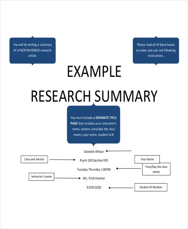 Research Paper Template 9 Free Word PDF Documents Download