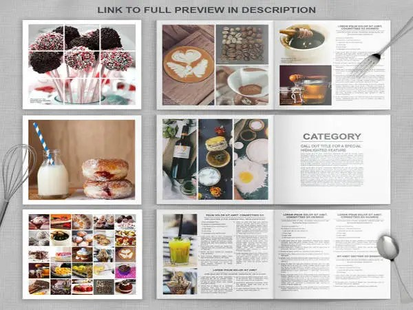 Cookbook template free free download printable for Free online cookbook template