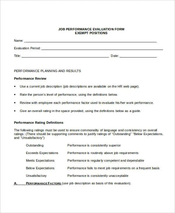 employee review templates free
