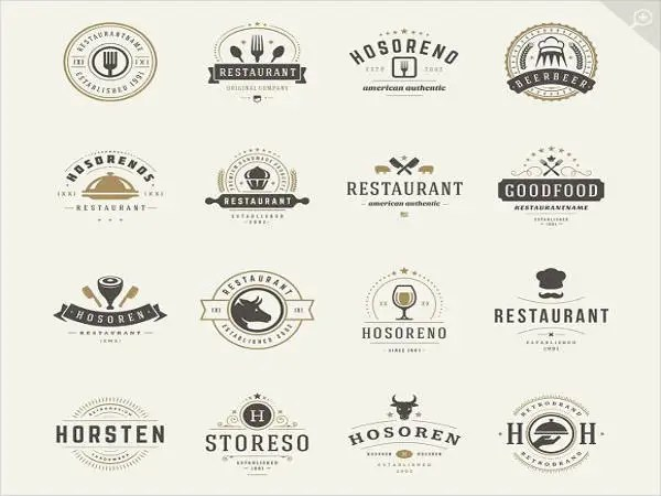 kitchen design template unfinished cabinets home depot 7+ beautiful food logo designs | free & premium templates
