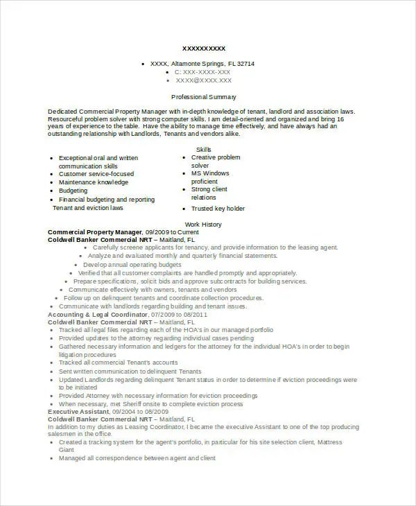 Property Manager Resume Example Resume Property Manager Resume  Resume For Property Manager