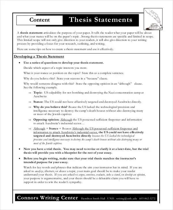 word thesis template