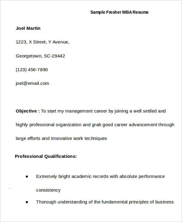 How To Write A Good Resume For Your First Job How To Write A Good