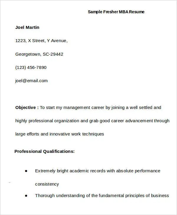 sample resume for a first time job