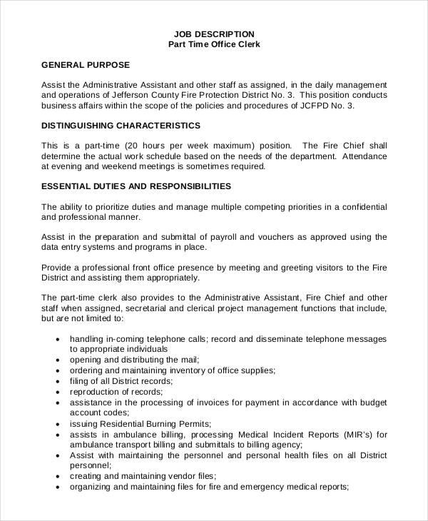 Front Desk Clerk Hotel Job Description  Hostgarcia