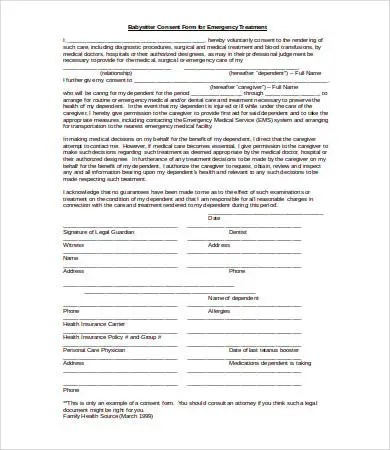 Medical Consent Form - 9+ Free PDF, Word, Documents Download | Free ...