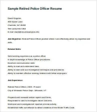 amazing police resume sample images simple resume office