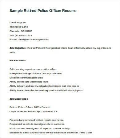 police officer resume template full size of resumemodern resume